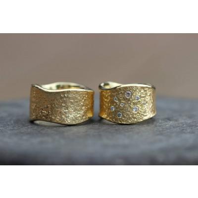 c3f5a8d16cb Min Vielsesring Profil 7 i 8 karat guld i 15 mm 8 sten (Parpriser se billede )