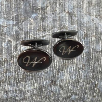 Manchetknap Oval oxideret 925 fremstillet til kundeopgave 1.1.2016