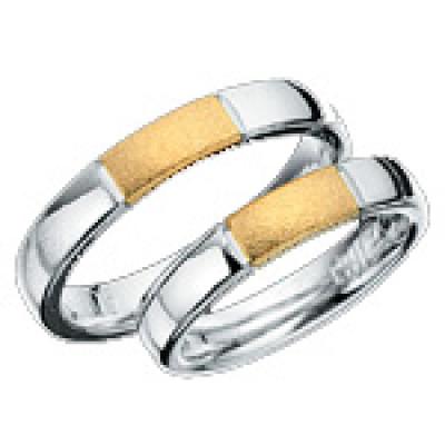 Hjertering i Sølv med guld