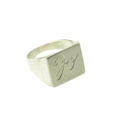Herre signet ring 16 x 18mm i 925 sølv