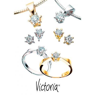 Ørestikker Victoria i 14 karat alm guld