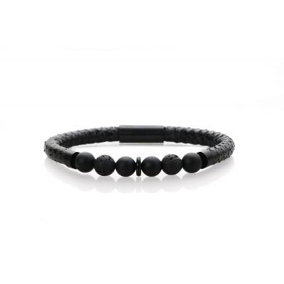 Black snake w. black onyx & lava