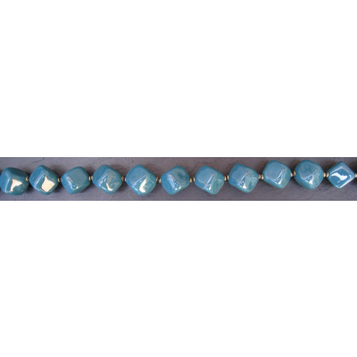 Kazuri - Cubes Halskæde, forsk. farver