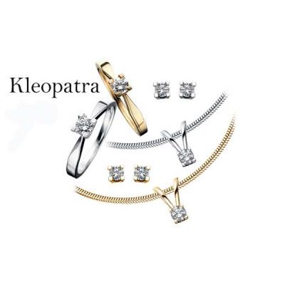 Ørestikker Kleopatra i 14 karat alm guld (10/20)