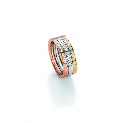 Alliancering i 14 karat alm. guld, hvidguld eller rosa guld m. brillanter i kørn fatning
