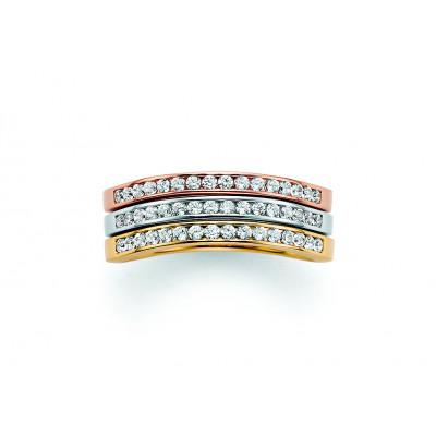 Alliancering i 14 karat alm. guld, hvidguld eller rosa guld m. brillanter i kanalfatning.