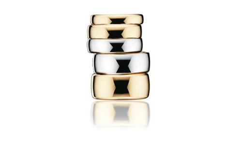 Vielsesringe i 14 karat guld A-ringe