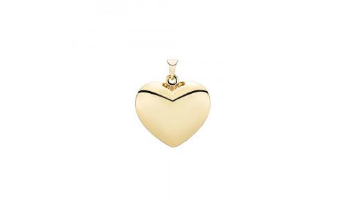 Lund Copenhagen- Vedhæng-hjerte i 8 karat guld
