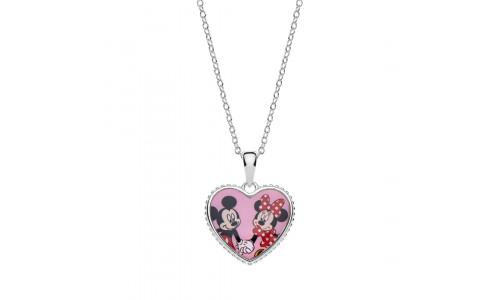 Disney sølvhalskæde - Mickey og Minnie Mouse (11/20)