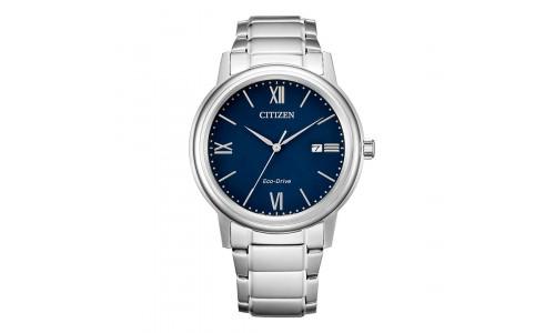 Citizen Eco-drive - Titanium herre ur med index og blå urskive (12/20)