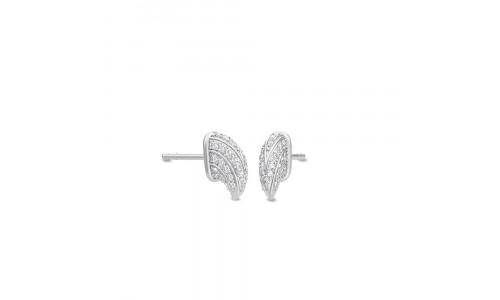 Julie Sandlau - Eagle Mini Stud - øreringe i satinrhodineret 925 sterlingsølv