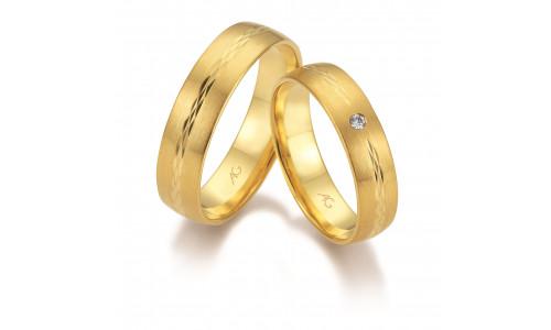 Vielsesringe i 14 karat guld fra Gerstner 28666 (L2) nov 17