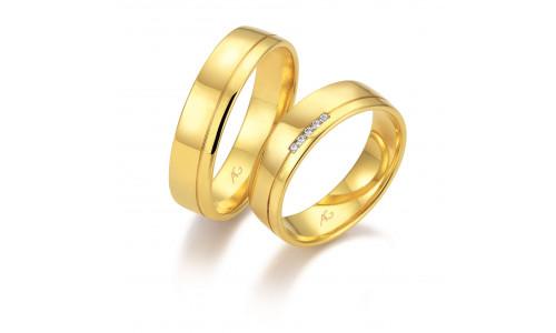 Vielsesringe i 8 karat alm. guld fra Gerstner 28667 (L2) 08/19