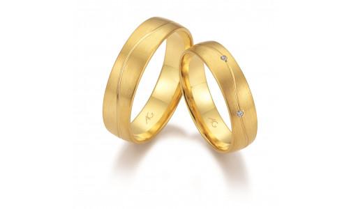 Vielsesringe i 14 karat guld fra Gerstner 28668 (L2) nov 17