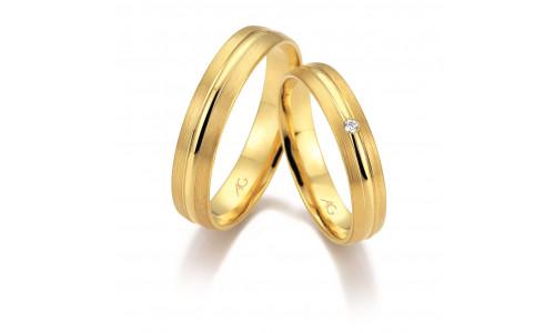 Vielsesringe i 8 karat alm guld fra Gerstner 28670 (L2) 08/19