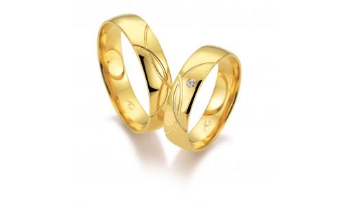 Vielsesringe i 8 karat alm. guld fra Gerstner 28671 (L2) 08/19
