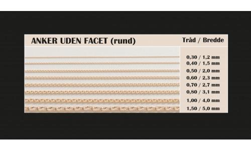 Guldkæder Anker rund i 8 karat guld
