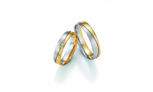 Vielsesringe - HM Pure V i 2 faarvet guld - alm.- og hvidguld