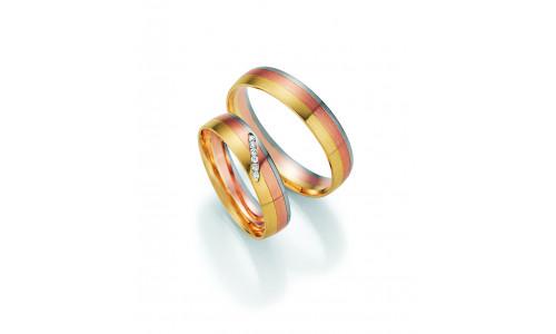 Vielsesringe - HM Pure V i 3 farvet guld
