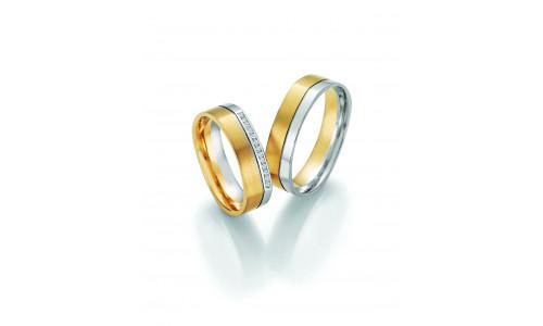 Vielsesringe - HM Solid V i guld i enten 8 karat eller 14 karat