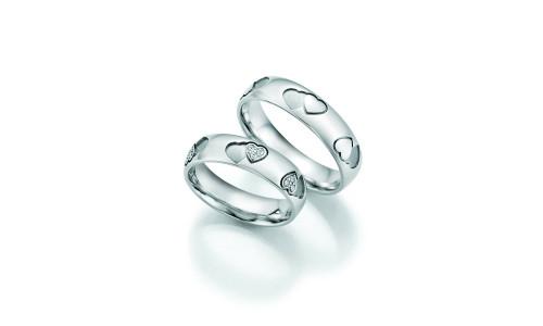 Vielsesringe - Hearts, love, infinity i guld