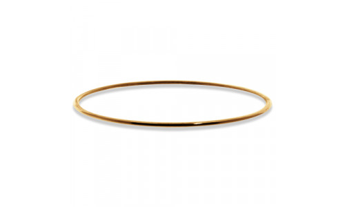 Håndlavet armring glat 2mm i 8 karat eller 14 karat guld