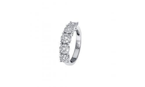 Smuk alliance ring med Brillanter i 14 karat alm guld eller hvidguld