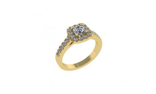 Smuk paveret ring i 14 karat guld med brillanter (07.20)
