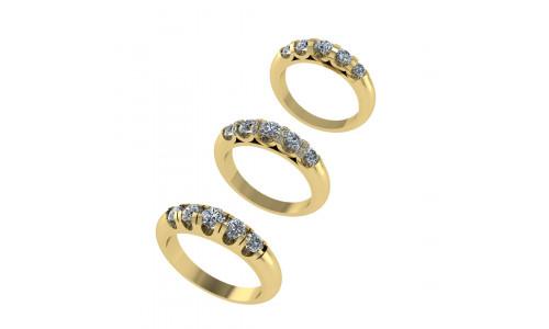 Fingerring med brillanter i 14 karat guld (07/20) - Marina