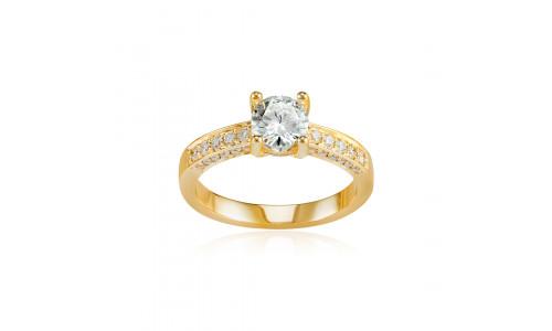 Fingerring med brillanter i 14 karat guld (07/20) - Nahar