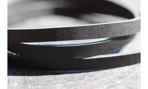 Honningbi læderarmbånd sort med guldlås