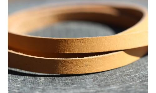 Honningbi Læderarmbånd brun med sølv lås
