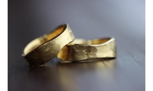 Min Vielsesring Profil 7 i 8 karat alm guld (10/19)