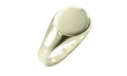 Dame signet ring oval15 x 12 i 925 sølv