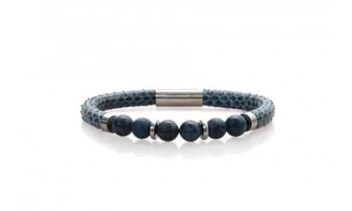 Blue snake w. dumortierite