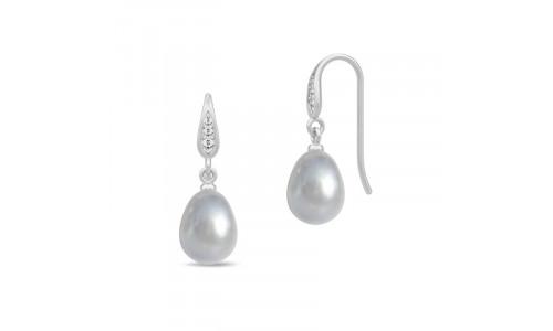 Rhodineret med grå perle
