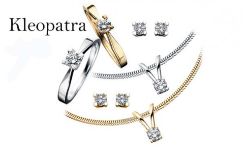 Ørestikker Kleopatra i 14 karat alm guld