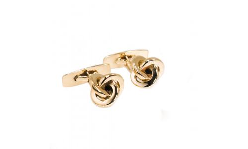 Manchetknap i guld eller sølv - knude