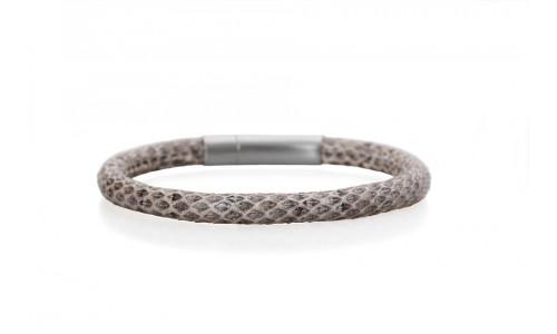 ChaBorg - Armbånd i naturfarvet slangeskind