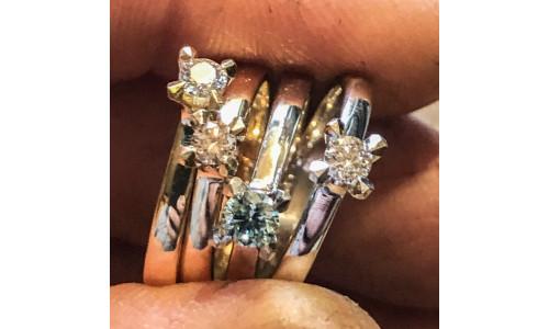 Ring - Jasmina i 14 karat alm. guld Ombytningserier  (01/21)