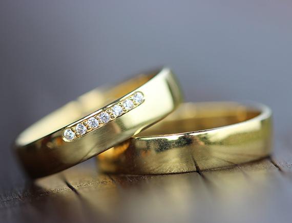 To guld ringe
